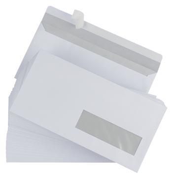 Gallery enveloppes, ft 110 x 220 mm (DL) bande adhésive, fenêtre à droite (ft 30 x 100 mm)