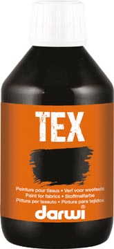 Darwi peinture textile Tex, 250 ml, noir
