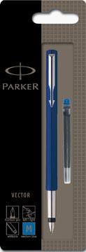 Parker Vector stylo plume bleu, sous blister