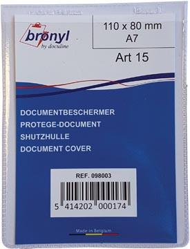 Bronyl étui en U en PVC transparente de 180 microns, ft A7