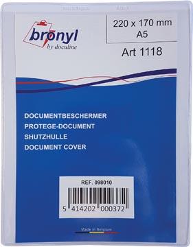 Bronyl étui en U en PVC transparente de 180 microns, ft A5