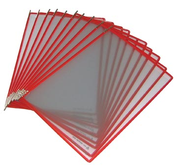 Tarifold poche à pivots rouge