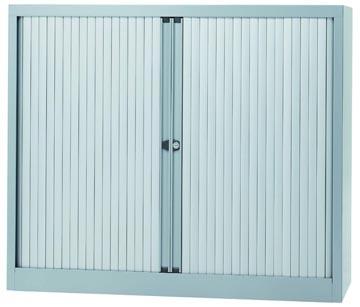 Bisley armoire à rideaux, ft 103 x 120 x 43 cm (h x l x p), 2 tablettes, argenté