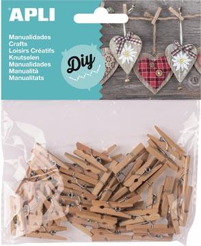Apli pinces en bois mini, blister de 45 pièces