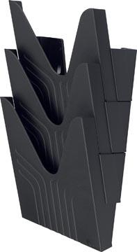 Avery présentoir mural, pour ft A4, noir, set de 3 pièces