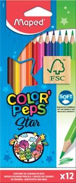 Maped crayon de couleur Color'Peps, 12 crayons
