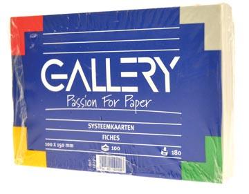 Gallery fiches blanches, ft 10 x 15 cm, uni, paquet de 100 pièces