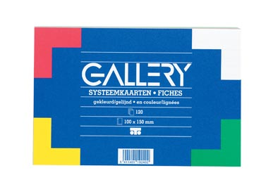 Gallery fiches colorées, ft 10 x 15 cm, paquet de 120 pièces