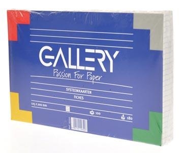 Gallery fiches blanches ft 12,5 x 20 cm, quadrillé 5 mm