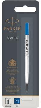 Parker recharge pour roller, pointe moyenne, bleu, sous blister