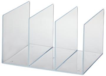 Maul serre-livres acrylique avec 3 compartiments