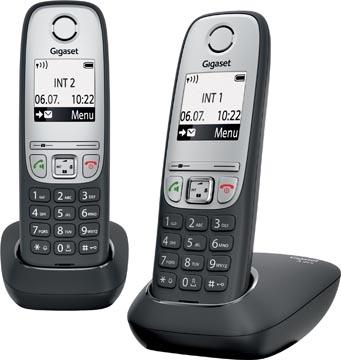 Gigaset A415 téléphone DECT sans fil, avec combiné supplémentaire, noir
