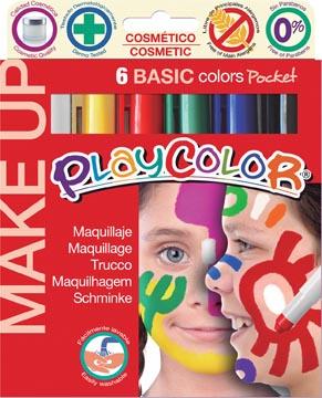 Graine Créative bâtons de maquillage PlayColor Make up, couleurs de base, 6 couleurs en étui cartonné