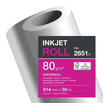 Clairefontaine papier plotter ft 914 mm x 50 m, 80 g