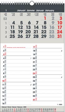 Calendrier mois Memo-Manager, 4 langues, 2022