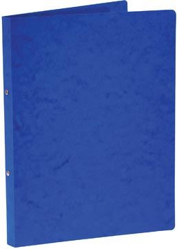 Bronyl classeur à anneaux, pour ft A4, en carton lustré, 2 anneaux de 16 mm, bleu