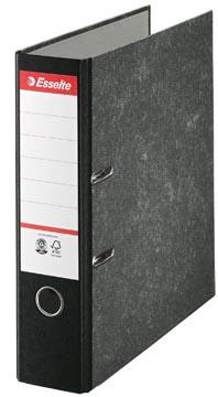 Esselte classeur à levier, en carton, ft A4, dos de 7,5 cm, marbré noir
