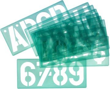Linex trace-lettres de 100 mm, set de 4 pièces
