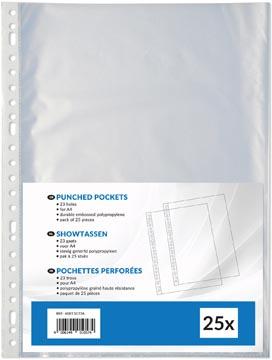 Pochettes perforée, ft A4, perforation 23 trous, paquet de 25 pièces