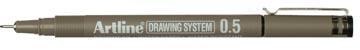 Fineliner feutre à pointe Drawing System, 0,5 mm, noir