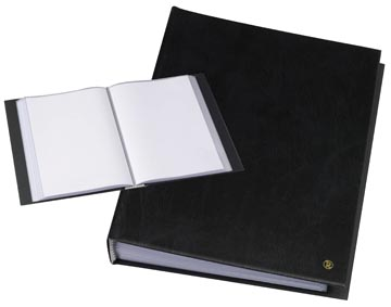 Rillstab protège-documents, ft A4, 100 pochettes, noir