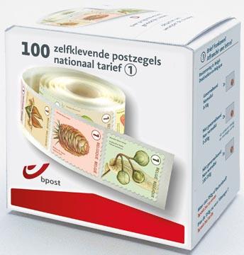 BPost timbres national, fruits, boîte de 100 pièces sur rouleau, non prior