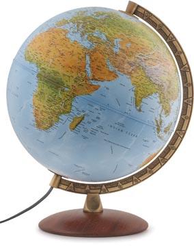Globe Astra, à double effet: en relief et politique, diamètre 30 cm, néerlandais