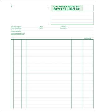Exacompta commandes, ft 21 x 18 cm, billingue, dupli (50 x 2 feuilles)