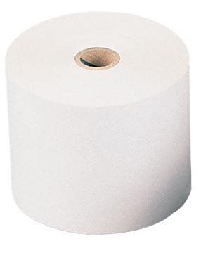 Bobine thermique, ft 57 mm, diamètre +-55 mm, mandrin 12 mm, longueur 46m