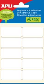 Apli étiquettes blanches ft 19 x 40 mm (l x h), 60 pièces, 10 par feuille (2676)