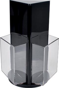 Deflecto présentoir de documents rotatif avec 3 compartiments, format 1/3 A4