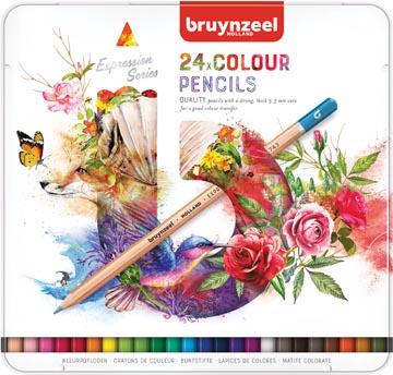 Bruynzeel crayons de couleur, boîte de 24 pièces
