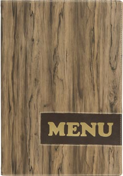 Securit protège-menu Design, ft A4, Wood