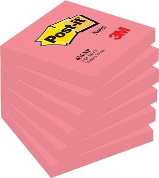 Post-it Notes, ft 76 x 76 mm, rose néon, bloc de 100 feuilles