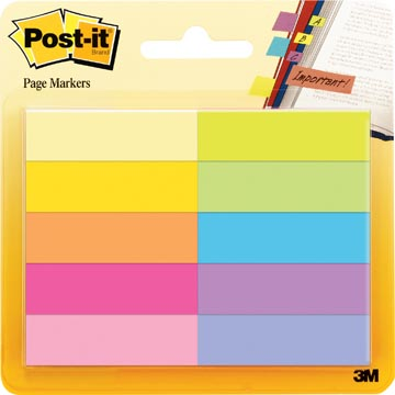 Post-It marque pages, 50 feuilles, paquet de 10 blocs