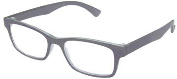 SILAC Soft Grey lunettes de lecture, caoutchouc polycarbonate, +3,00