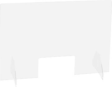 Exascreen écran de protection pour expiration, lisse, à poser, ft 95 x 58 cm