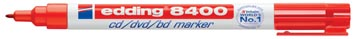 Edding marqueur permanent pour CD/DVD/BD e-8400 rouge