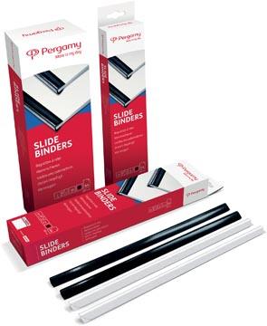 Pergamy baguettes à relier, paquet de 25 pièces, 3 mm, noir