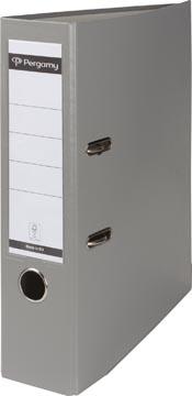 Pergamy classeur, pour ft A4, en carton recouvert de PP, dos de 8 cm, gris