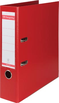 Pergamy classeur, pour ft A4, entièrement en PP, dos de 8 cm, rouge