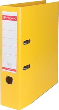 Pergamy classeur, pour ft A4, entièrement en PP, dos de 8 cm, jaune