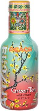 Arizona thé froid Green Tea Peach, bouteille de 500 ml, paquet de 6 pièces