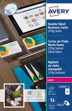 AVERY cartes de visite Quick&Clean 270 g/m²