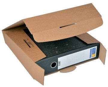 Colompac boîte d'expédition pour classeurs CP058, ft 32,2 x 29,5 x 8 cm, brun
