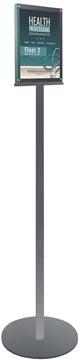 Deflecto support d'information sur pied double face magnétique, pour ft A4, argent