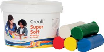 Havo pâte à modeler Supersoft 5 couleurs assorties: rouge, vert, jaune, blanc et bleu