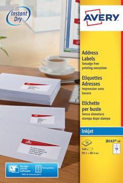 Avery J8163-10 étiquettes adresse ft 99,1 x 38,1 mm, 140 étiquettes blanc