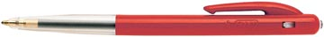 Bic stylo bille M10 Clic, pointe moyenne, 0,4 mm, rouge