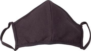 Masque lavable, noir uni, taille: universel, paquet de 3 pièces